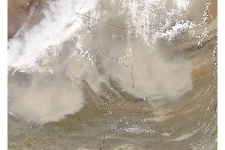 Dust storms in Iran and Pakistan - selected image