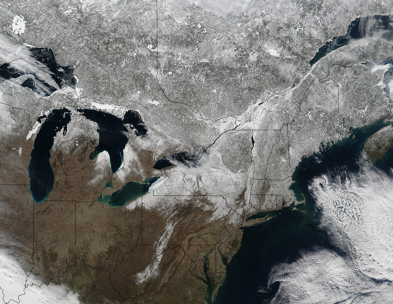 Snow across northeastern United States and Canada - related image preview
