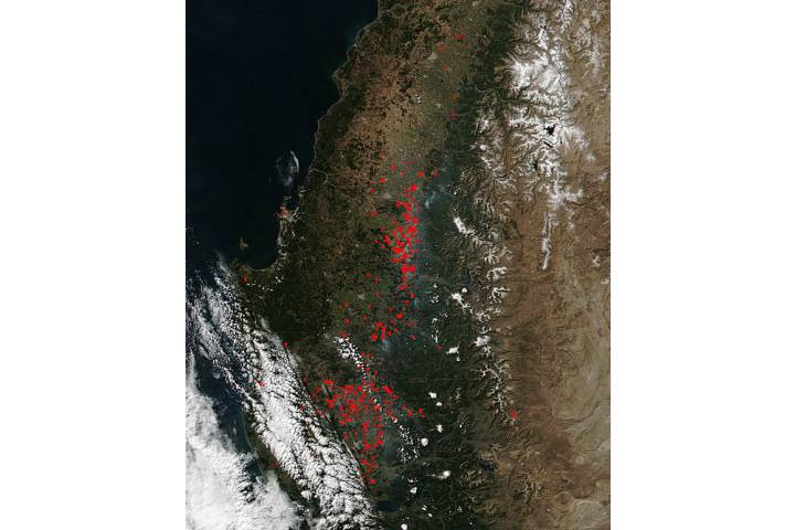 Fires in central Chile - selected image