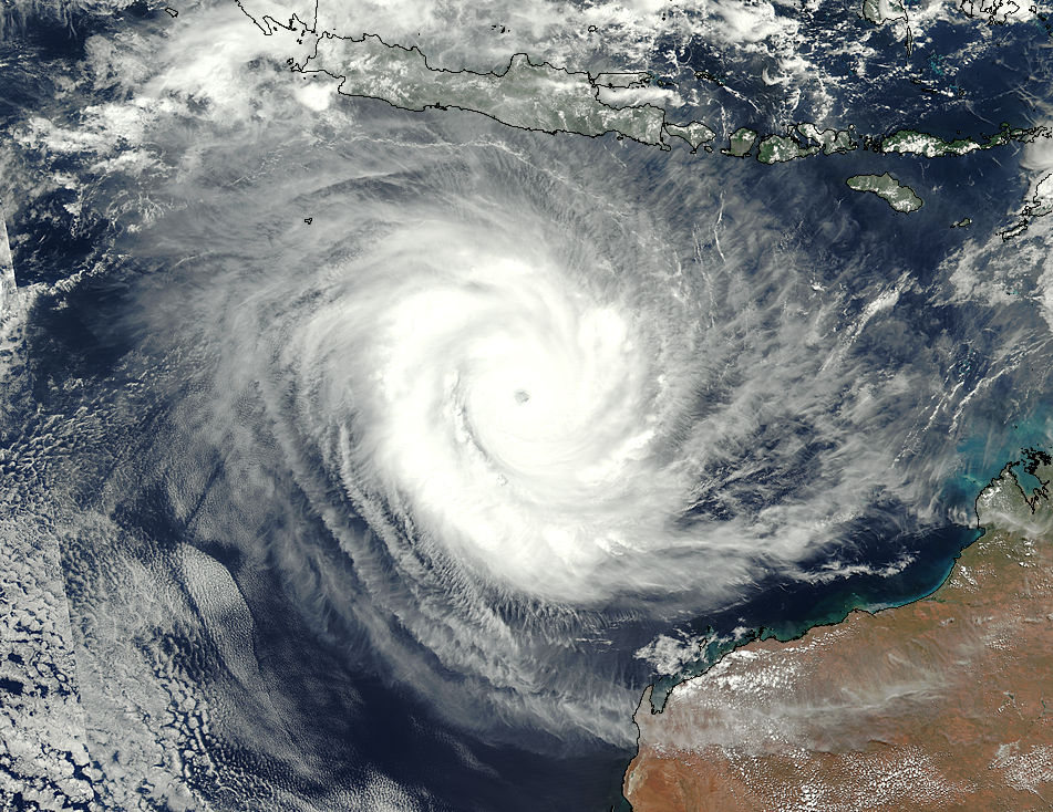 Tropical Cyclone Marcus (15S) off Western Australia - related image preview