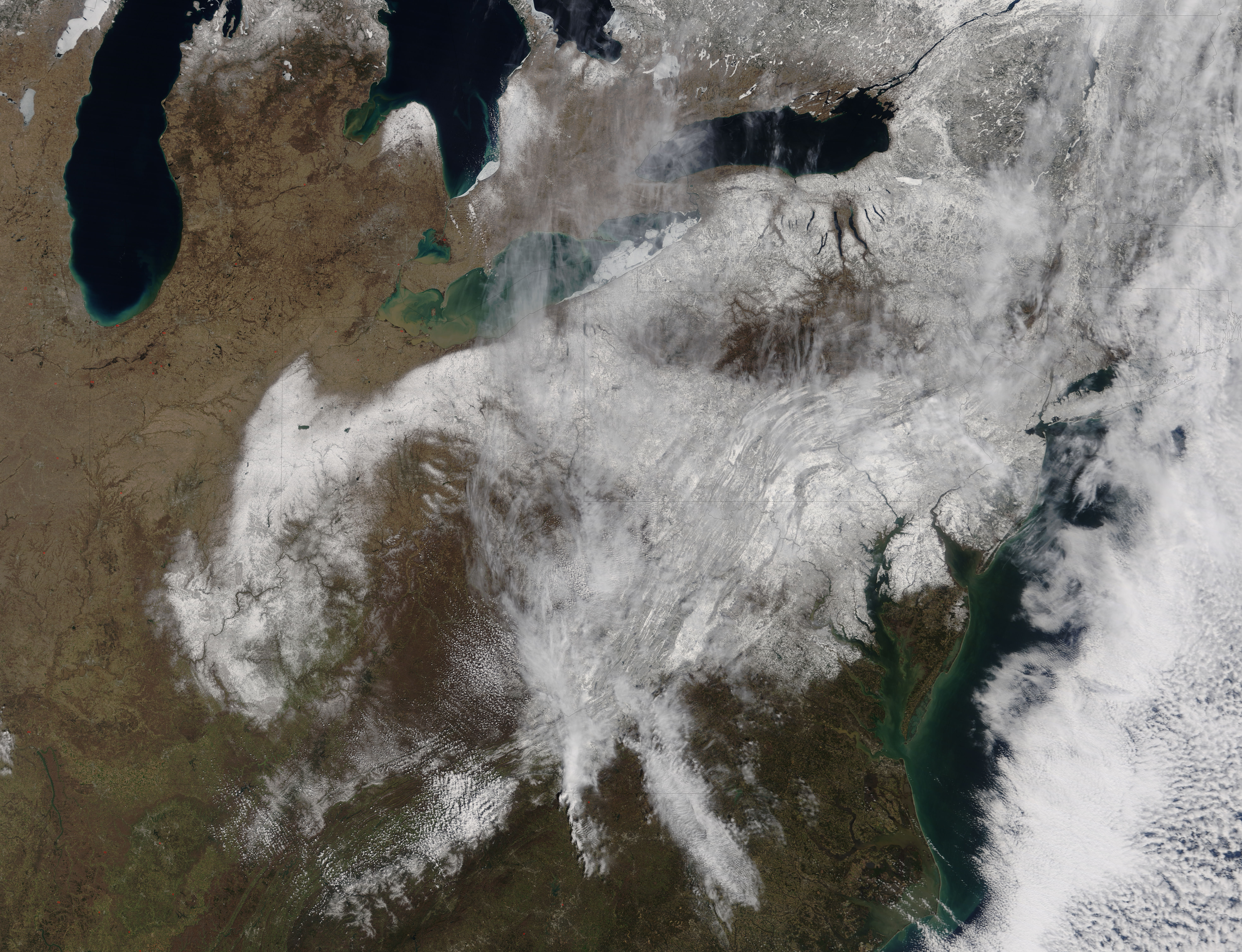 Spring snow across the eastern United States - related image preview