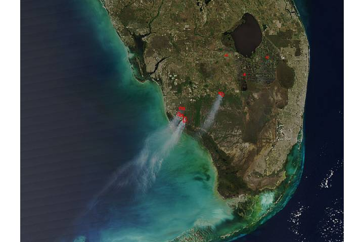 Fires in southern Florida - selected image
