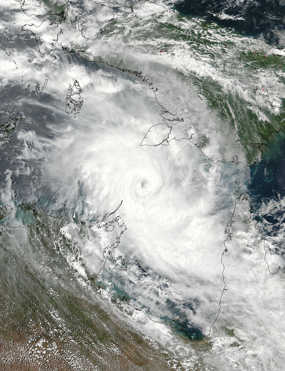 Tropical Cyclone Nora (16P) approaching Australia - related image preview