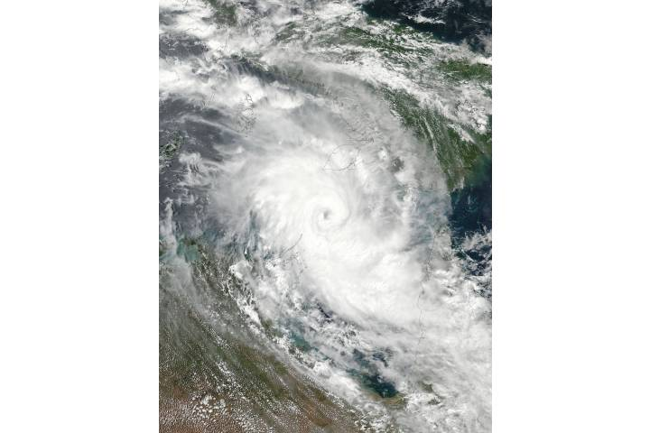 Tropical Cyclone Nora (16P) approaching Australia - selected image