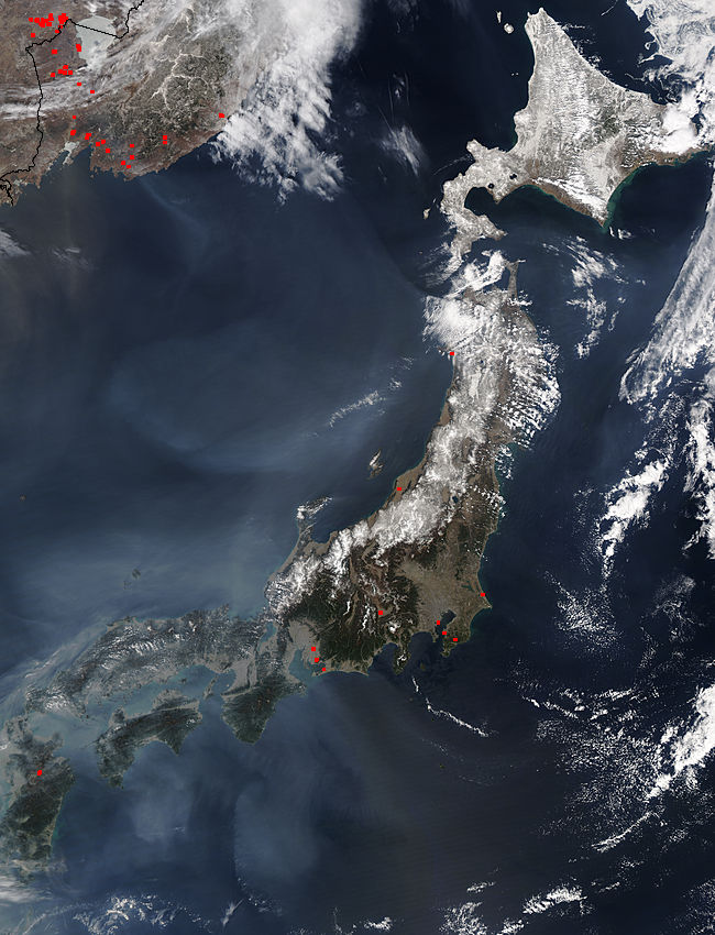 Haze around Japan - related image preview