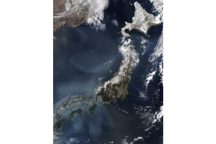 Haze around Japan - selected image