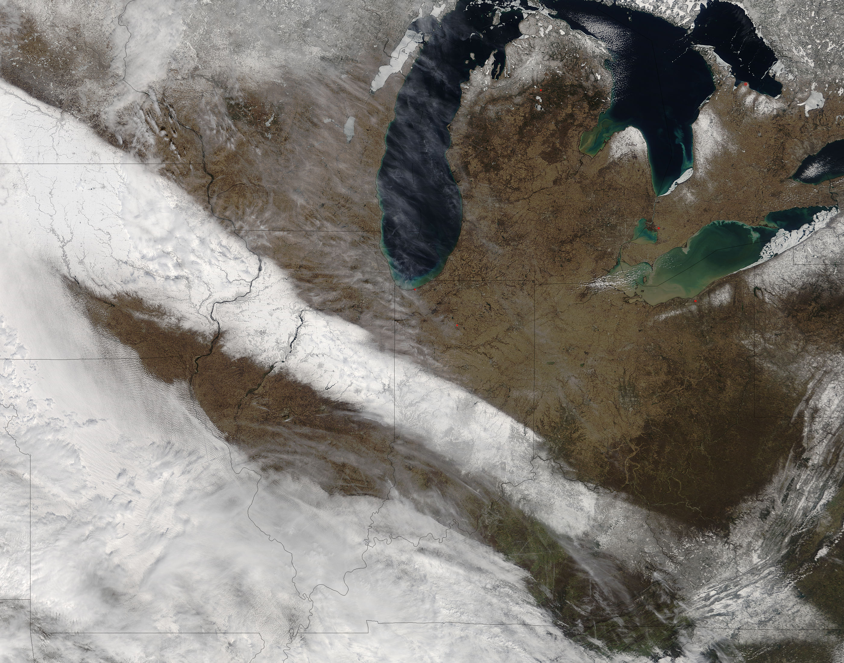Spring snow across the midwestern United States - related image preview