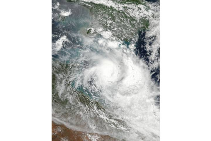 Tropical Cyclone Nora (16P) over Australia - selected image