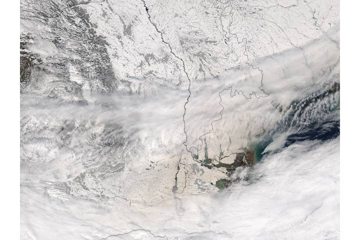 Dust on snow in Romania and Ukraine - selected image