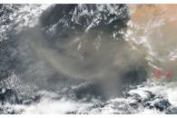 Dust storm off West Africa
