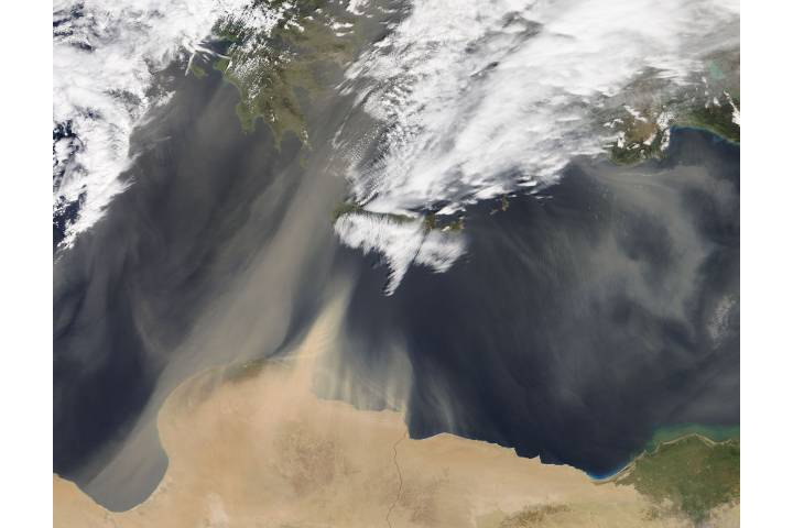 Dust storm over the eastern Mediterranean Sea - selected child image
