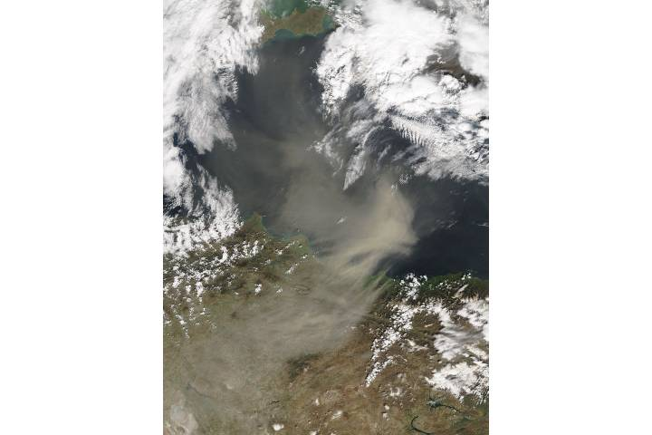 Saharan dust over the Black Sea - selected image