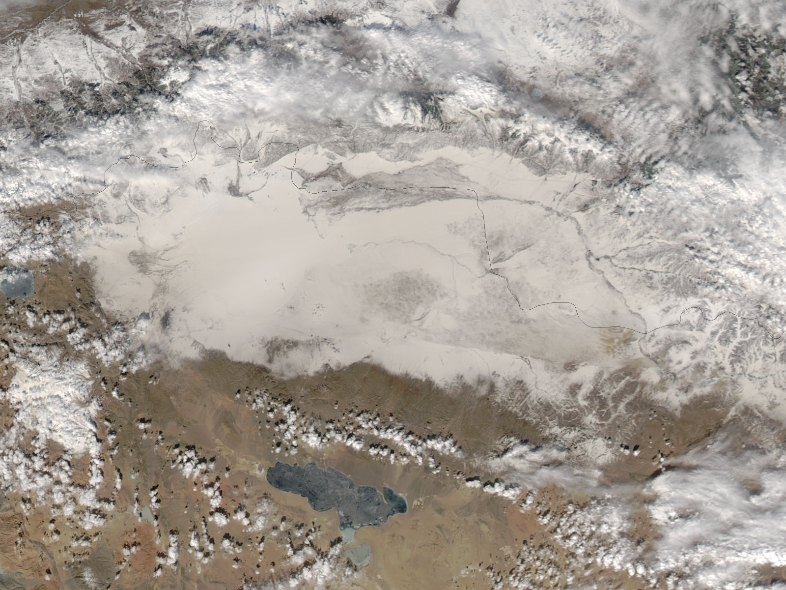 Dust on snow in western Mongolia - related image preview