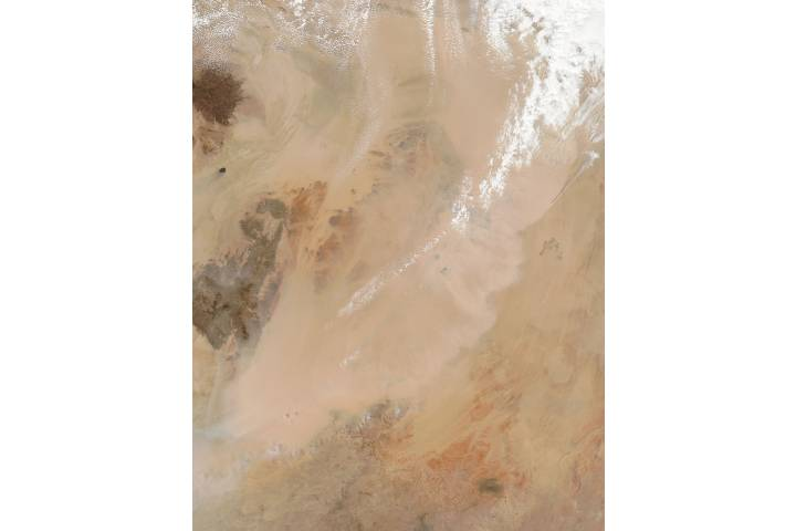 Dust storm in the Sahara Desert - selected image
