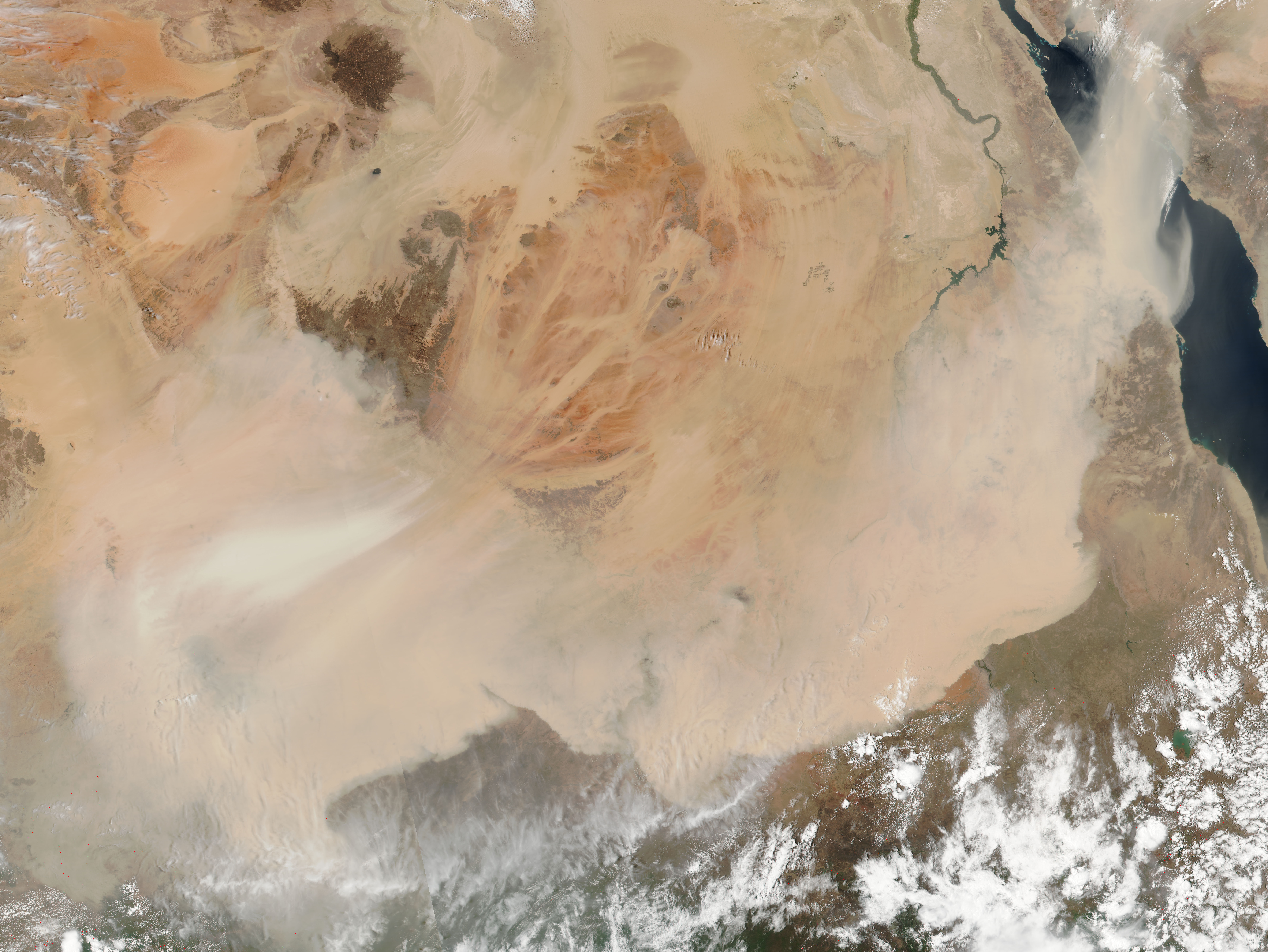 Dust storm in the Sahara Desert - related image preview