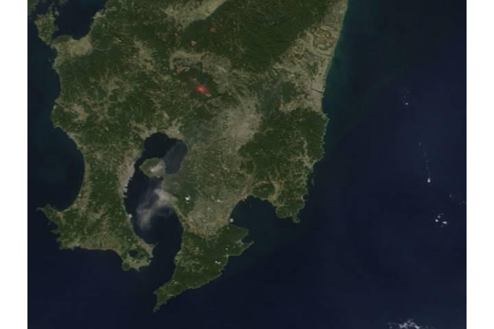 Activity at Sakura-jima and Kirishima, southern Japan - selected image