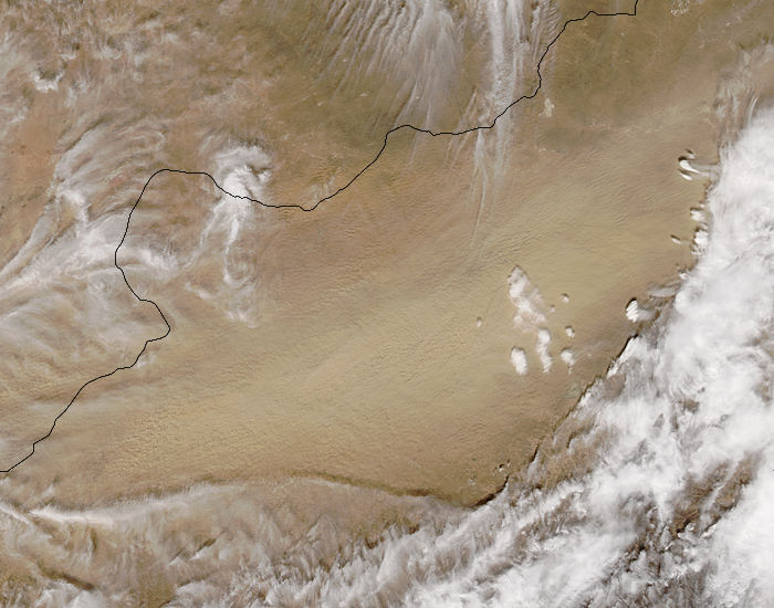 Dust storm in the Gobi Desert - related image preview
