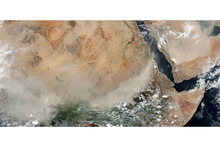 Dust storms across central Africa and the Arabian Peninsula - selected image