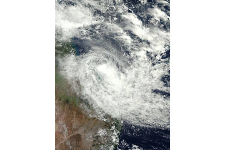 Tropical Cyclone Iris (17P) over Australia - selected image
