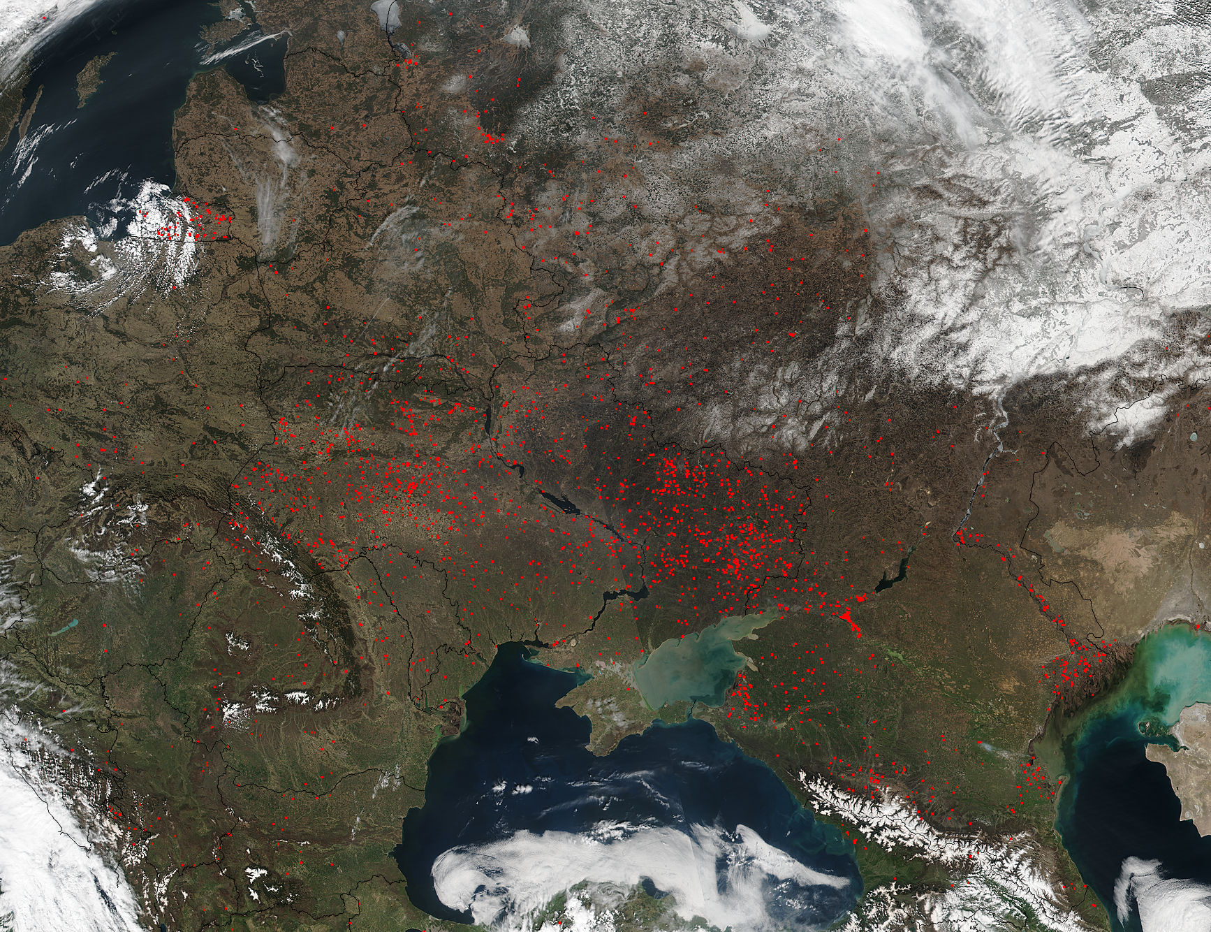 Fires across eastern Europe - related image preview