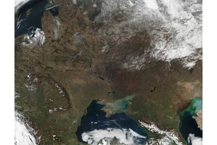 Fires across eastern Europe - selected image
