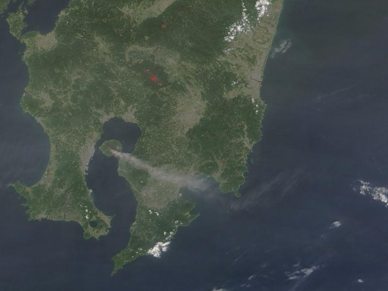 Activity at Sakura-jima and Kirishima, southern Japan - related image preview
