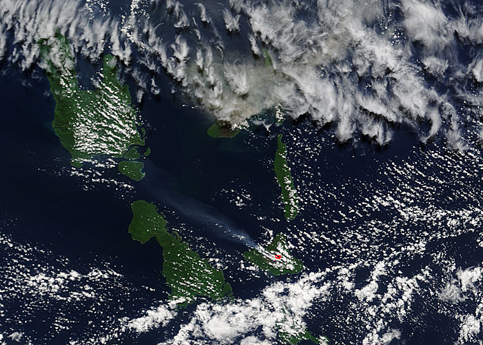 Plumes from Aoba and Ambrym volcanoes, Vanuatu - related image preview