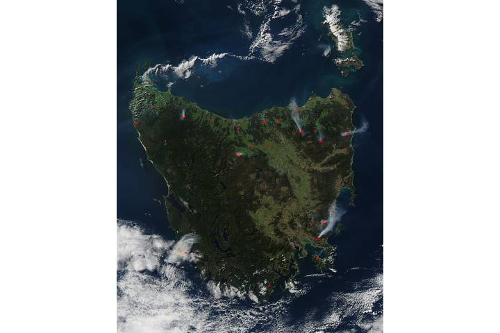 Fires in Tasmania - selected image