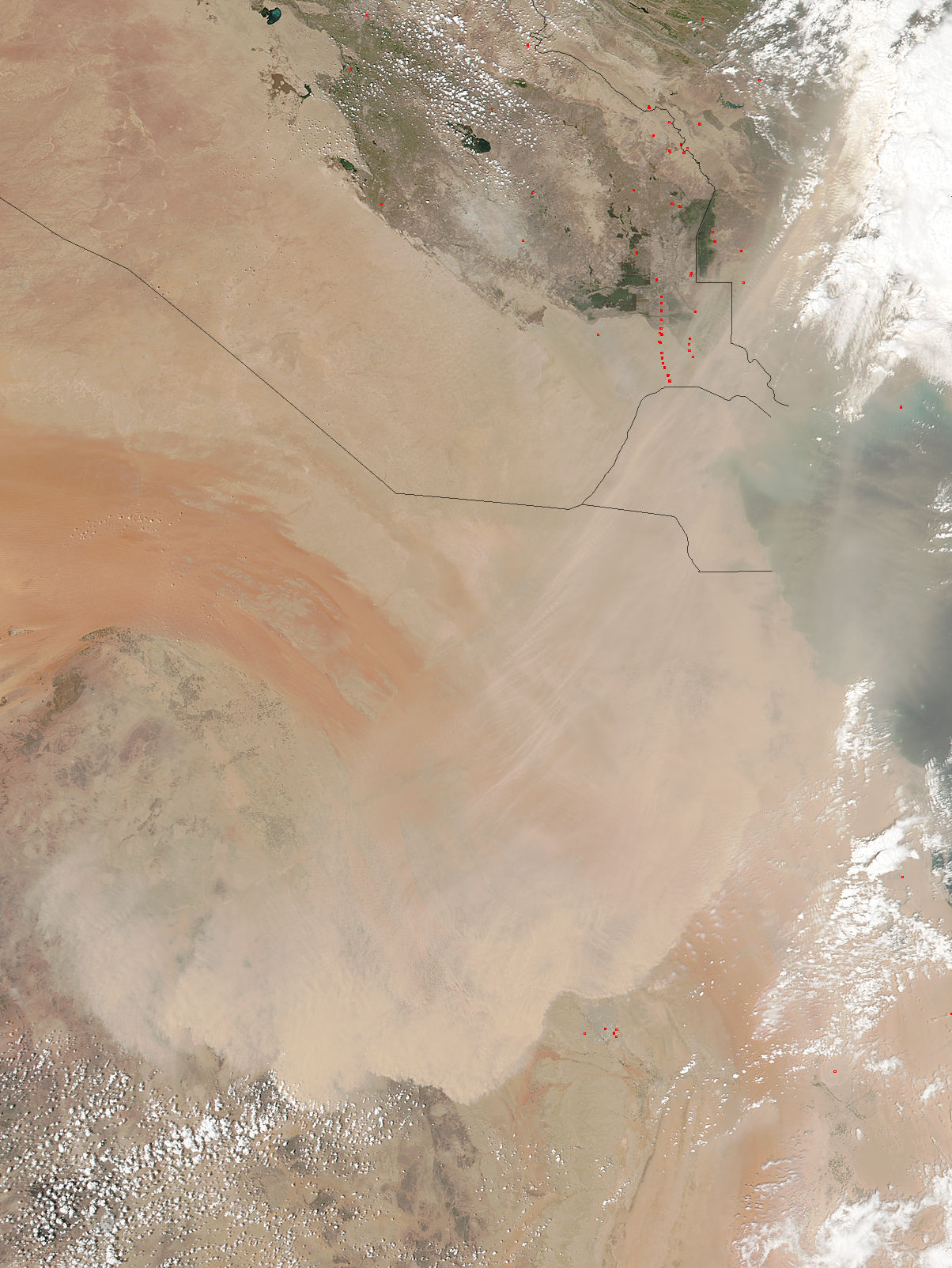 Dust storm in Saudia Arabia - related image preview
