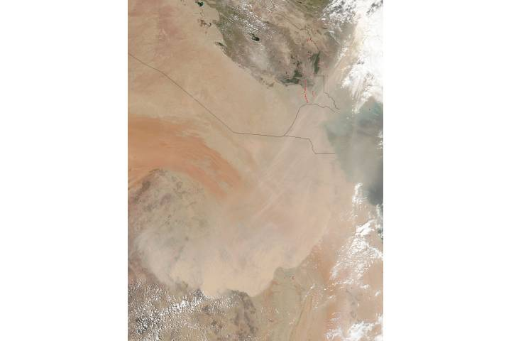 Dust storm in Saudia Arabia - selected image