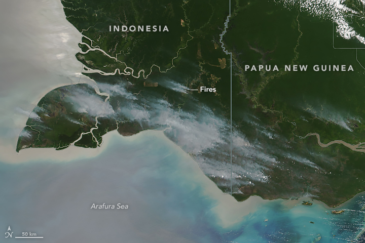 Increased Fire Activity in New Guinea