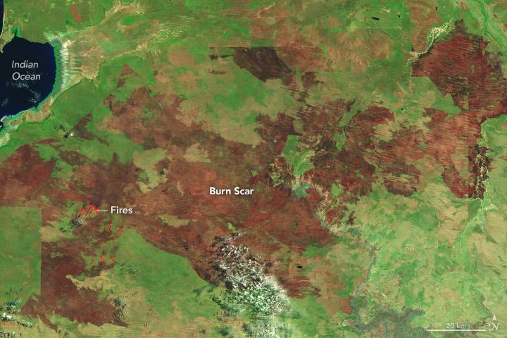 Bushfire Burns More than 2 Million Acres