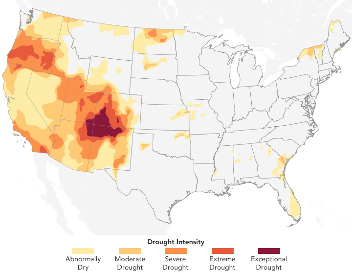Drought Persists in the U.S. Southwest