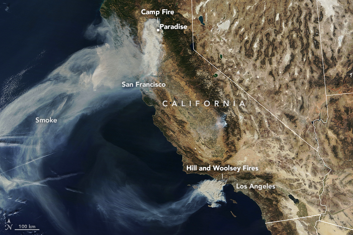 Camp Fire Rages in California Smoke Map California on california congressional district map, california heat map, california lyme map, california grey map, california radiation map, california vortex map, california fishing lakes map, california wildfires current, california white map, california sea level map, california united states map, california fires from space, california groundwater map, california district court map, california fracking map, california salt map, california meth map, california smog map, california ley lines map, california flooding map,
