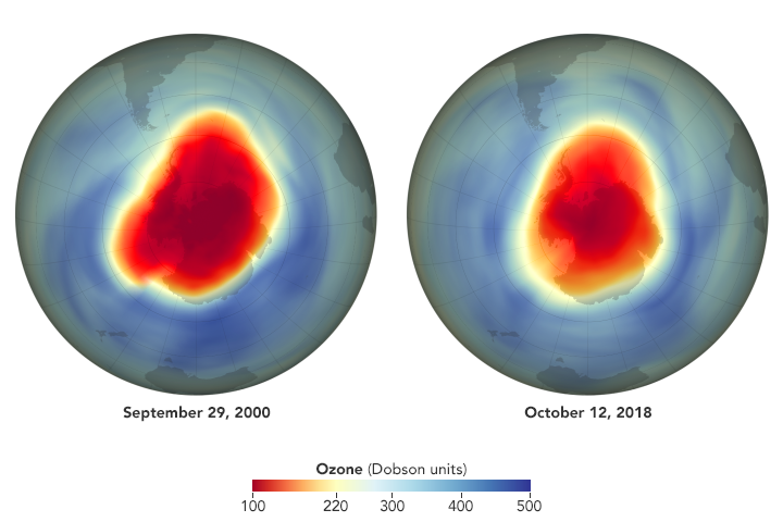 Ozone Hole is Big, But Tempered by CFC Reductions
