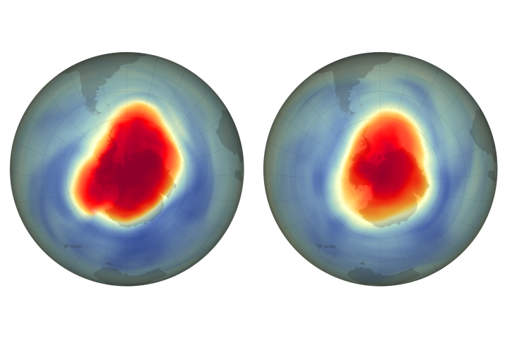Ozone Hole is Big, But Tempered by CFC Reductions - selected image