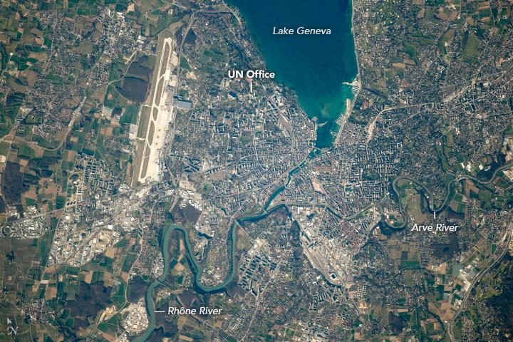 The Rhône River in Geneva