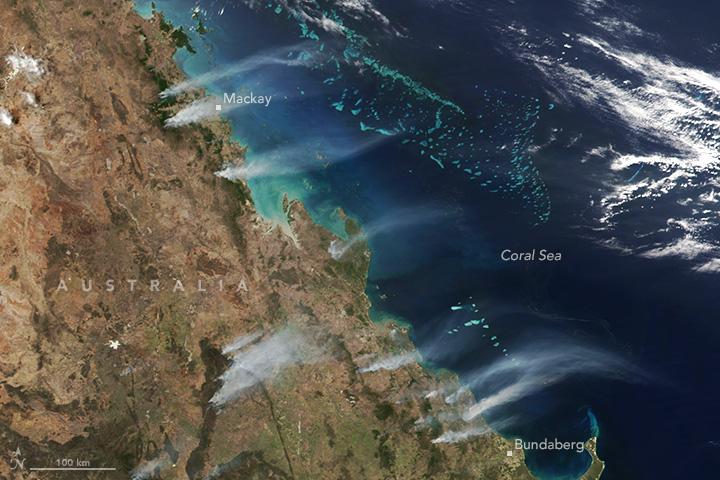 Unusual Heat Fuels Fires in Queensland