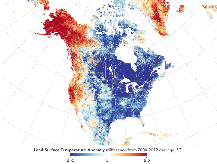 Chilly November in North America