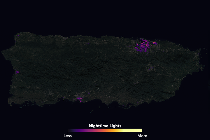 Night Lights Show Slow Recovery from Maria - related image preview