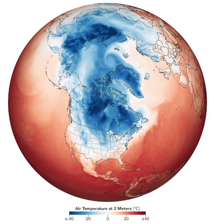 Arctic Weather Plunges into North America