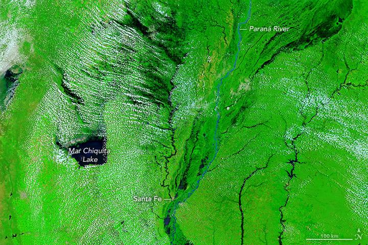 Floods Soak Argentine Farmland