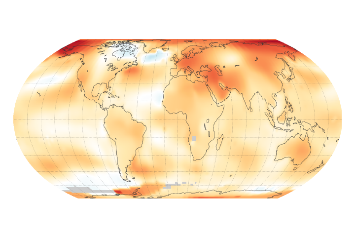 2018 Was the Fourth Warmest Year, Continuing Long Warming Trend - selected image