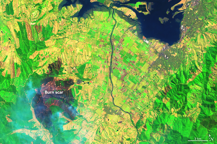 Fires Burn in Parched New Zealand