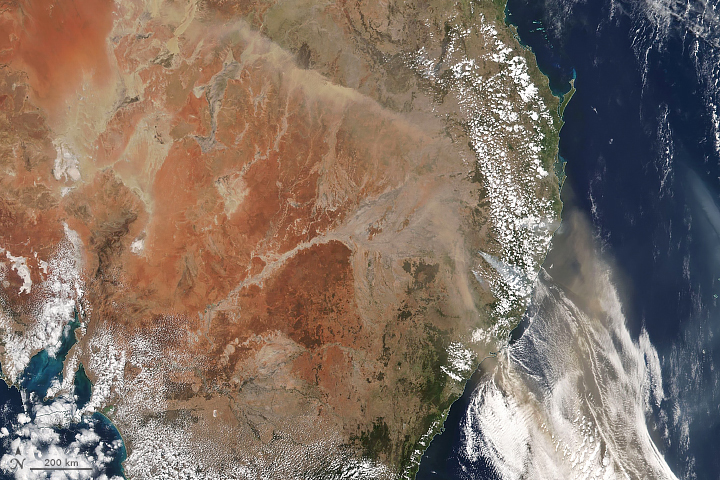 Dusty, Smoky Skies in Australia