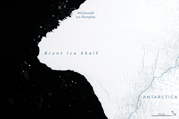 Countdown to Calving at Brunt Ice Shelf