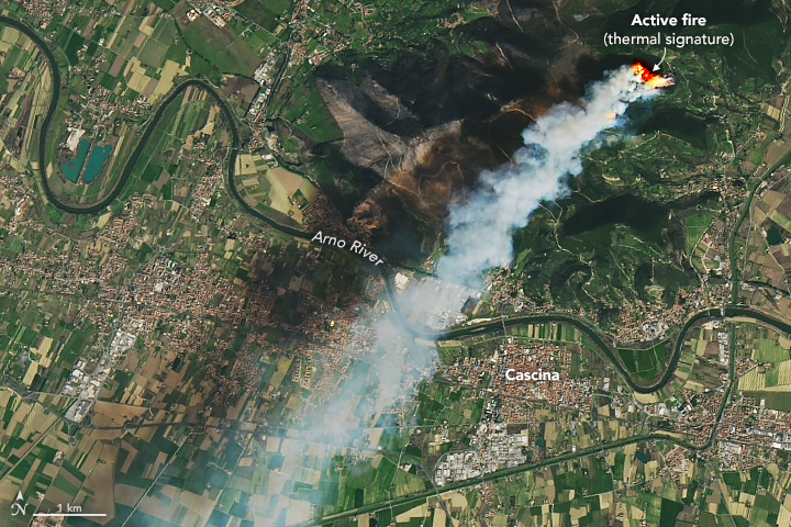 Fire Burns in Northern Italy - related image preview