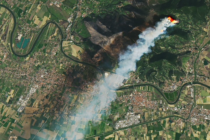 Fire Burns in Northern Italy - selected image