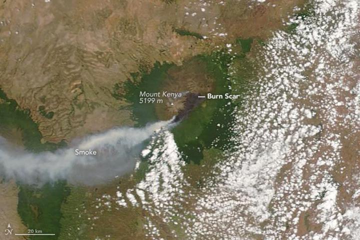 Fire on Mount Kenya