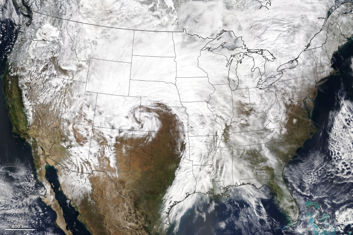 Late-Winter Storm Blasts the Great Plains